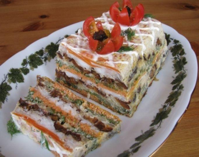 Рыбный торт-праздничное блюдо. Обсуждение на LiveInternet - Российский Сервис Онлайн-Дневников