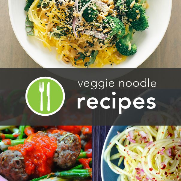 Yum! 5 Recipes with Veggies as #Noodles @Greatist