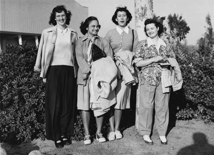 San Bernardino County Hospital Workers, 1948 Blanche is a medical technologist and at that time was able to live on the hospital grounds. Blanche is pictured with her coworkers.