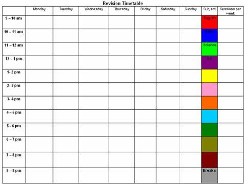 1000+ ideer om Revision Timetable på Pinterest | College organization