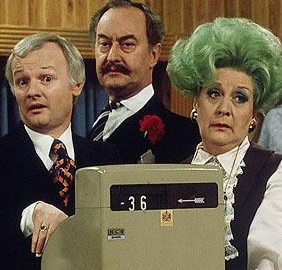 'Are You Being Served' - Mr Humphries, Captain Peacock Mrs Slocombe