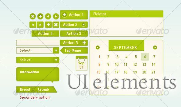 UI elements for web interface - #User #Interfaces #Web #Elements Download here: https://graphicriver.net/item/ui-elements-for-web-interface/51412?ref=alena994