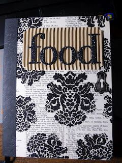 Composition Book altered into a food journal