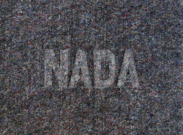 Carlos Montes de Oca - Nada - Algo de la serie Dripping - Algodón prensado