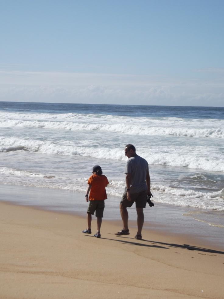 James and Chris on Plettenburg Bay Beach