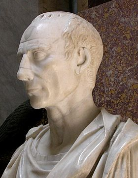 Vatican bust of Caesar, side: