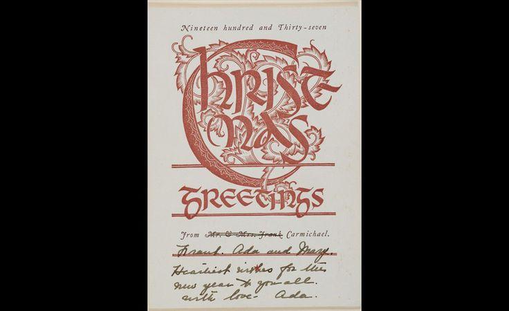 Franklin Carmichael (1890-1945), Christmas Card, 1937