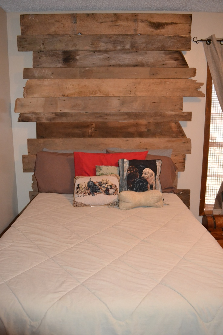 59 Incredibly Simple Rustic Décor Ideas That Can Make Your: Barnwood Headboard