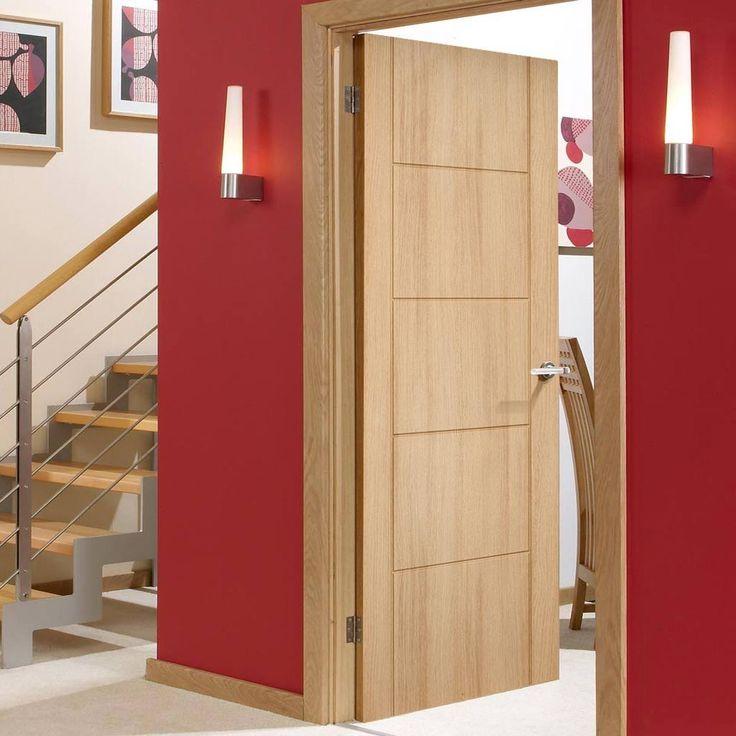 Valletta 2 Panel Ledro Oak Composite Prefinished Doorset with 110mm Broad Frame. #internalfiredoor #oakdoor #oakfiredoor