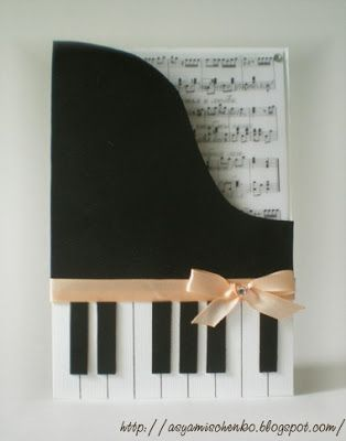 Piano card - Music Lover Cards - also nice for a wooden magazine rack |The Urban Scrapbook inc.: