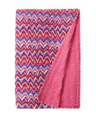 71% OFF Chevron Bed Cover (Fuchsia/Blue)