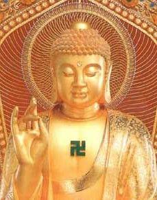 1. ORIGEN ESVÁSTICA:  Uno de los principales símbolos del nazismo es la cruz esvástica. Es necesario destacar que los alemanes no fueron los primeros ni los únicos en utilizar dicho símbolo, ya en la antigua Troya se empleaba esta cruz en como decoración en la alfarería y en las monedas; para los hindúes y budistas, esta cruz es un símbolo sagrado; incluso en la cultura de los aborígenes americanos, se empleaba la esvástica.