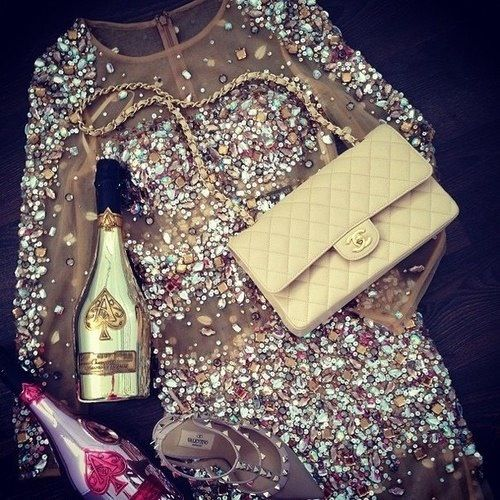 NYE outfit, ready to celebrate