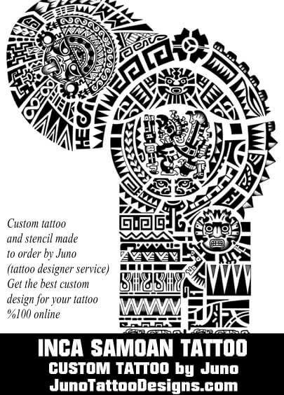 inca tattoo, samoan tattoo, aztec tattoo, polynesian tattoo, tribal tattoo, juno tattoo designs