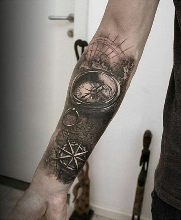 Compass forearm - 50+ Awesome Compass Tattoo Designs <3 <3
