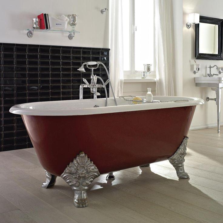 die besten 25 gusseisen badewanne ideen auf pinterest badewanne mit l wenf en badezimmer. Black Bedroom Furniture Sets. Home Design Ideas