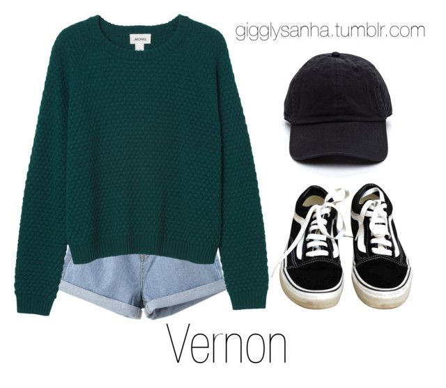 """Park Date // Vernon"" by suga-infires ❤ liked on Polyvore featuring Vans and Monki"