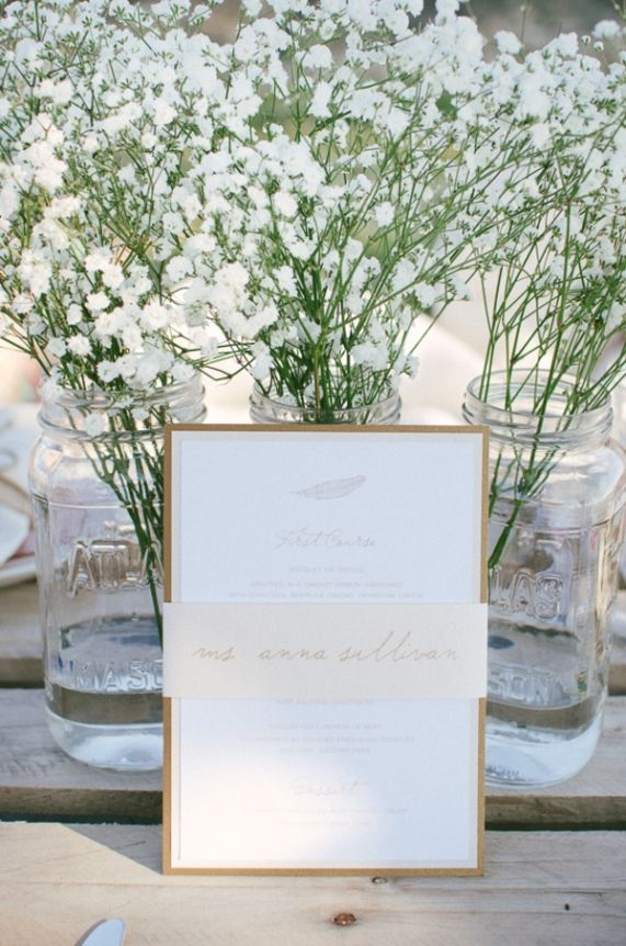 Simple, bohemian wedding invitation graphic design inspiration from a whimsical, bohemian wedding shoot. Images by Fogarty Photography.