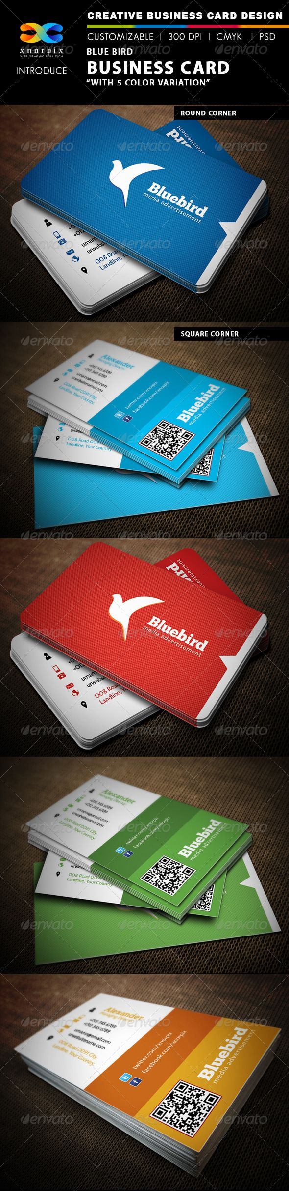 605 best business card template images on pinterest business card blue bird business card reheart Gallery