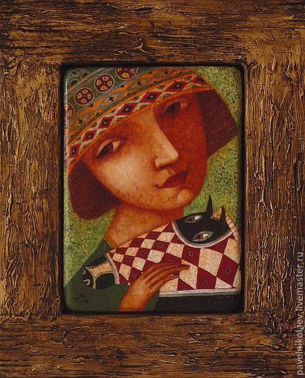 """Купить """"Любимая лошадка"""", авторская печать - подарок, подарок на день рождения, сувенир, готический наив"""