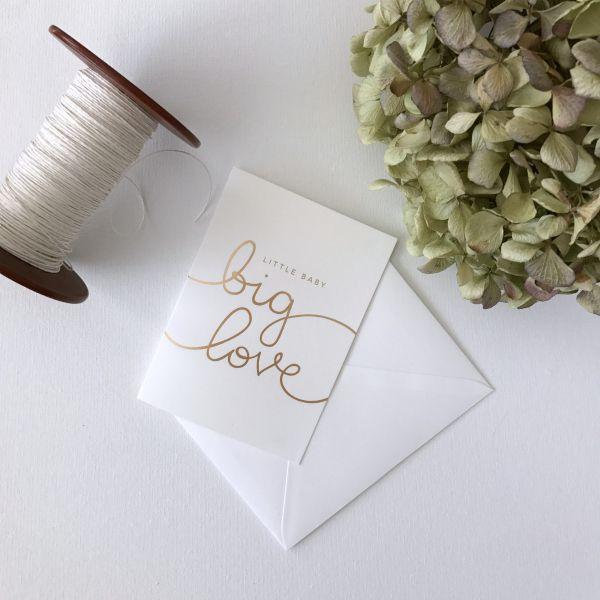 Baby Shower Card - Little Baby Big Love from Mama Maya