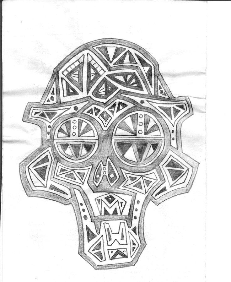 cráneo semi-simétrico