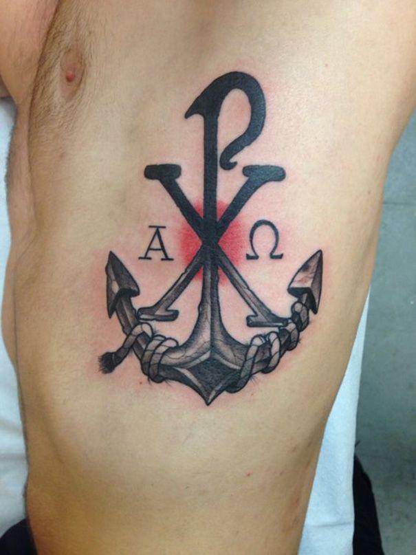 Neutattodesigns Com Chi Rho Tattoo Tattoos Chi Rho