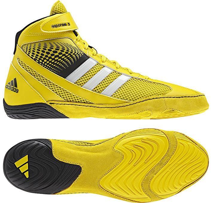Chaussures de lutte adidas Response 3.1 jaune/noir/blanc - ADIM18789