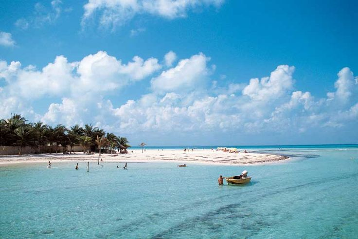 Isla Mujeres, Mexico. Calm, turquoise waters and soft white sand make them ideal for sunning, swimming and snorkeling. Yes please!