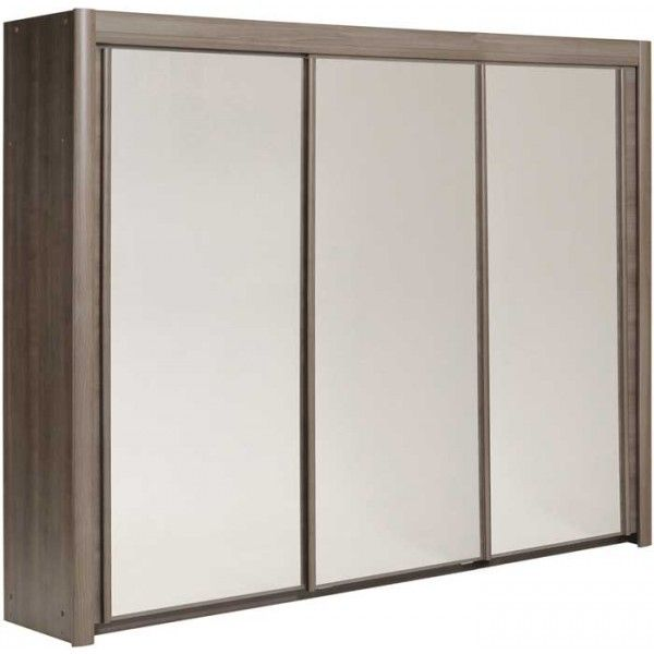 Superb Parisot Carla cm wide wardrobe silver walnut
