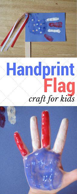Sei mutig, mach weiter: Kid Craft: Handprint American Flag!   – USA