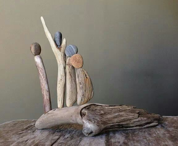Pam Joy driftwood art 'View from the top'
