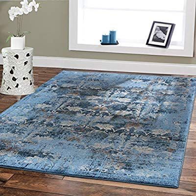Amazon Com Premium Soft Rugs Luxury Contemporary Rug Dark Blue