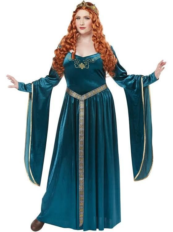 51c11d3e762 Google Express - California Costumes 01762 Plus Size Lady Guinevereadult -  Teal - 3XL