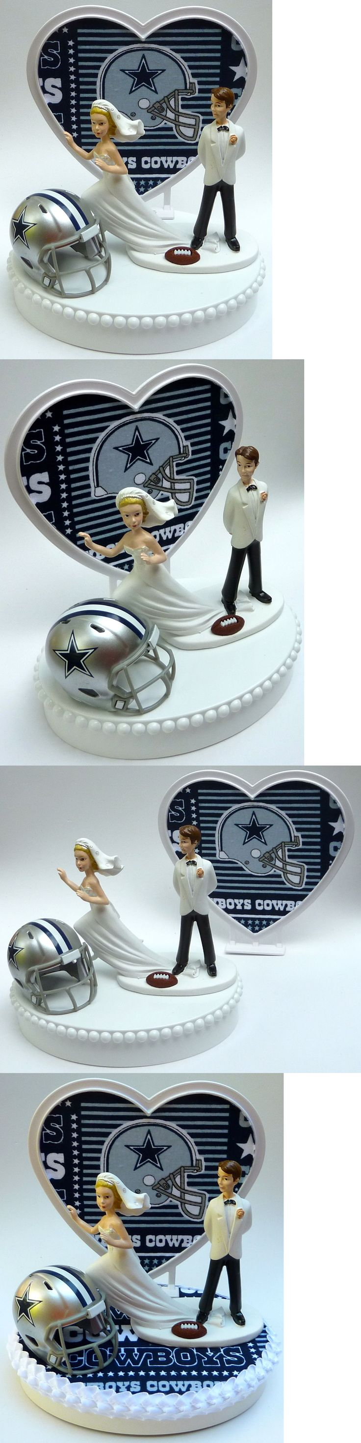 Wedding Cakes Toppers: Wedding Cake Topper Football Dallas Cowboys Themed Runaway Bride Sports W Garter -> BUY IT NOW ONLY: $59.99 on eBay!