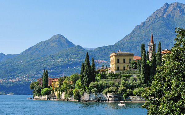 """Lake Como, Italy, where the """"Blood and Honor"""" series is set."""