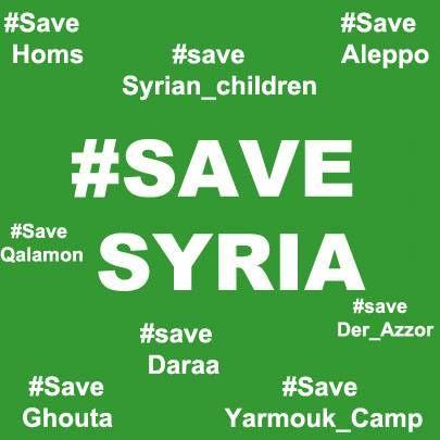 #SaveAleppo , #SAVE_SYRIA , #save_aleppo