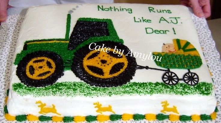 tractor baby shower cake - Google Search