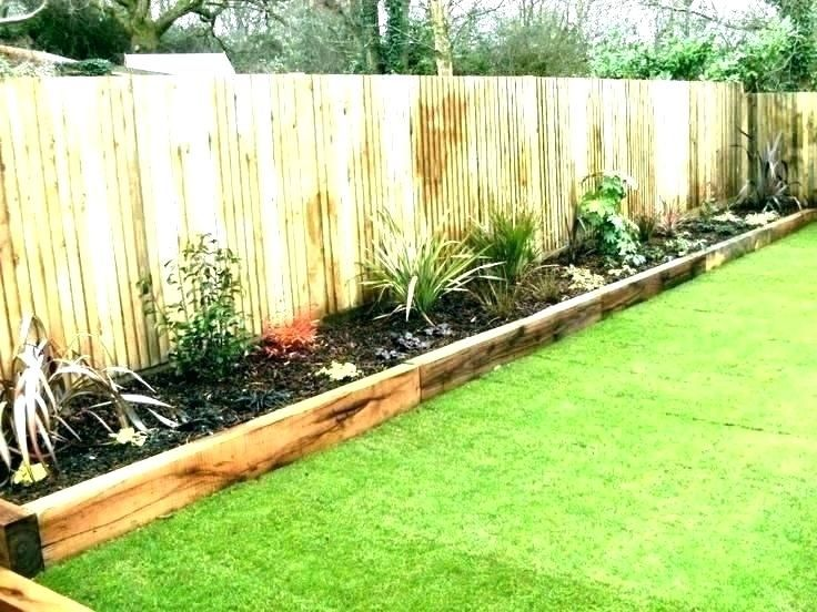 Grass Border Ideas Wooden Flower Bed Borders Landscape Border