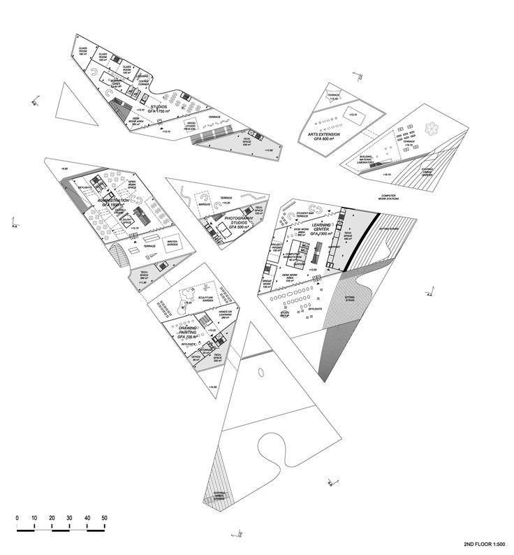 Hipsterkasbah (Otaniemi Campus, Aalto University) / ALA Architects 1st plan