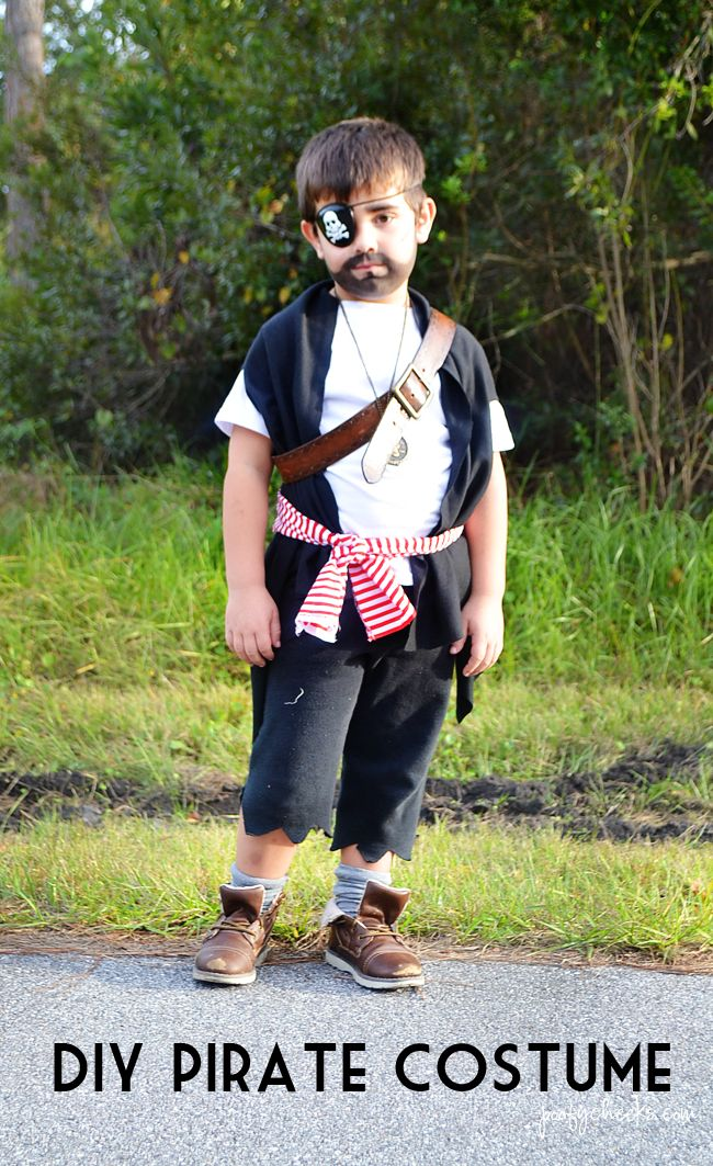 Diy pirate and ghost halloween costumes halloween boys for Homemade halloween costumes for little boys