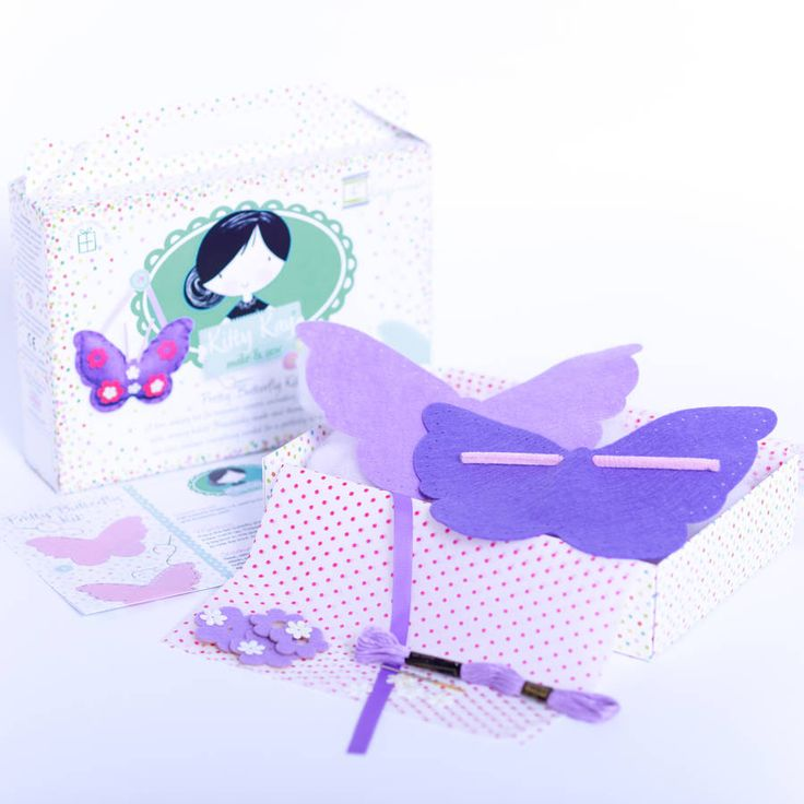 'Make & Sew' Felt Butterfly Kit In Purple