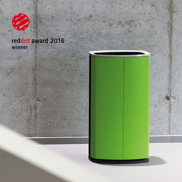 MINIUM by mmcité. Litter bin was awarded Red Dot Design Award. The smooth, slightly grooved surface of the bin, the soft contours of its almond shaped body, along with the sophisticated design details, variability of anchoring and the unconventionally high-quality materials. www.mmcite.com