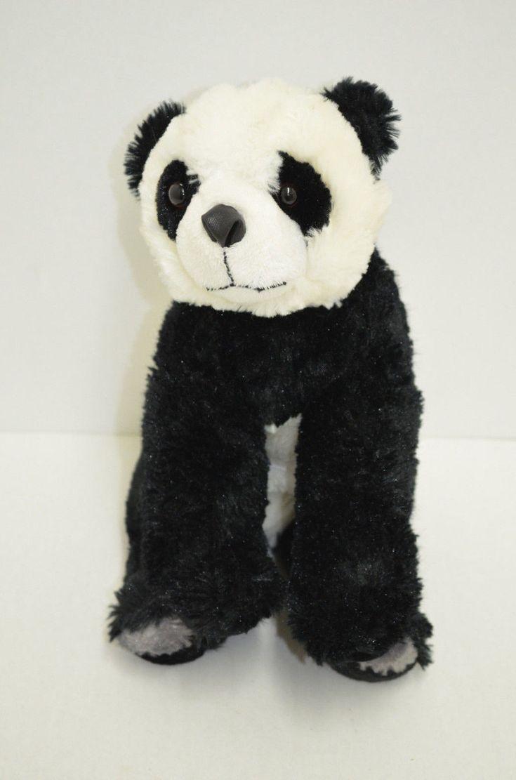 "Wishpets Bai Li Panda Bear Plush Black White Bean Bag Feet 12"" 2006"