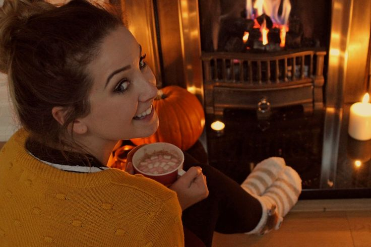 Hot Chocolate by the fire in cosy socks = Autumn www.zoella.co.uk