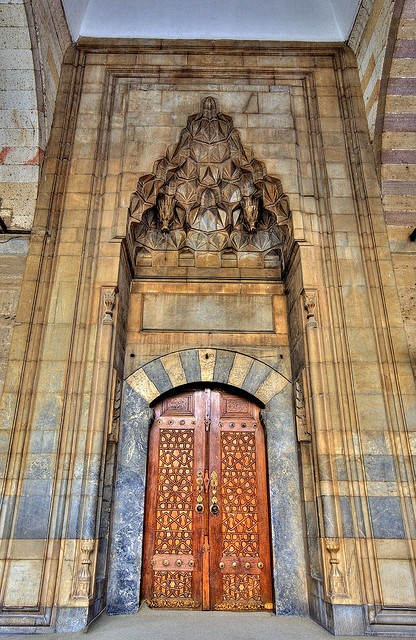 Tomb Of Mewlānā Jalāl ad-Dīn Muḥammad Balkhī (Molavi) - Jalal ad-Dīn Muhammad Rumi مولانا جلالالدین محمد بلخی - مولوی Mevlana Main Door (Door to Rumi)