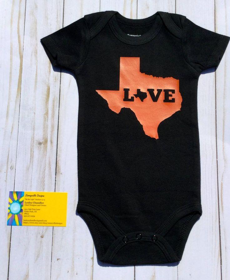 Love Texas/ Baby Onesie/Gender Neutral Onesie/Baby Girl/Baby Boy/Baby Shower Gift/Pregnancy Announcement/ Texas Onesie/Texas Baby by sunnyvilledesigns on Etsy https://www.etsy.com/listing/549133573/love-texas-baby-onesiegender-neutral