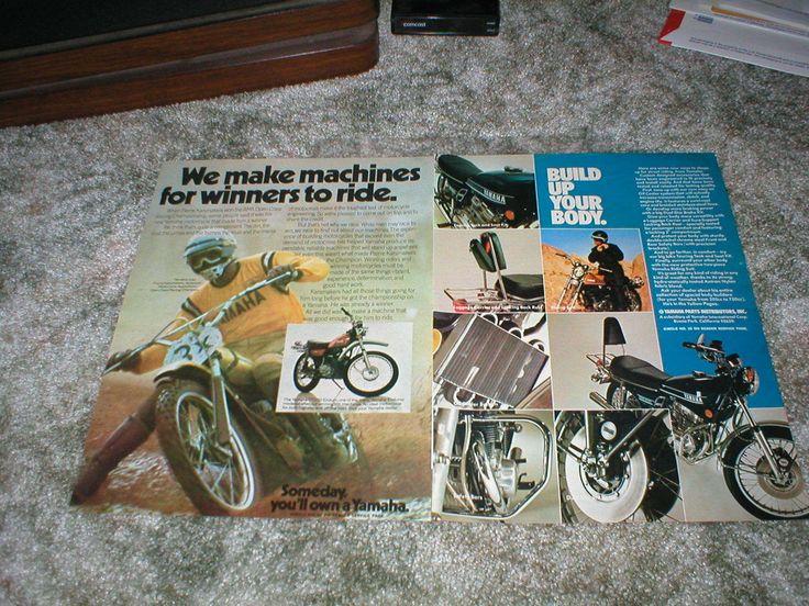 1974 Yamaha Enduro DT250 Pierre Karsmakers AMA Champ Ad Lot MX Motocross Parts | eBay