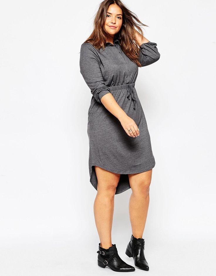 Stormy Grey Jersey Autumn Dress