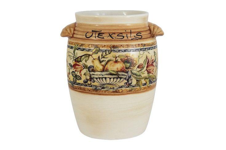 Керамическая подставка под кухонные инструменты Старая Тоскана